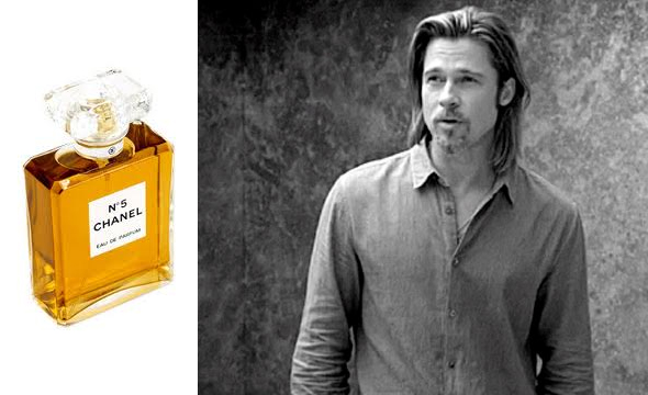 Brad Pitt as the face of Chanel No. 5 is apparently both amusing and confusing