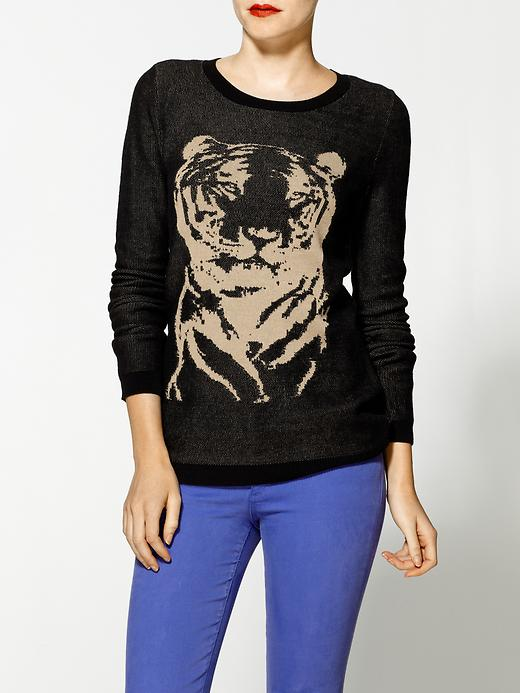 Hive & Honey Animal Intarsia Crew Sweater