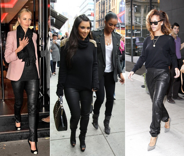 Leather pants are the most-regretted fashion purchase - Charlize Theron, Kim Kardashian, Rihanna