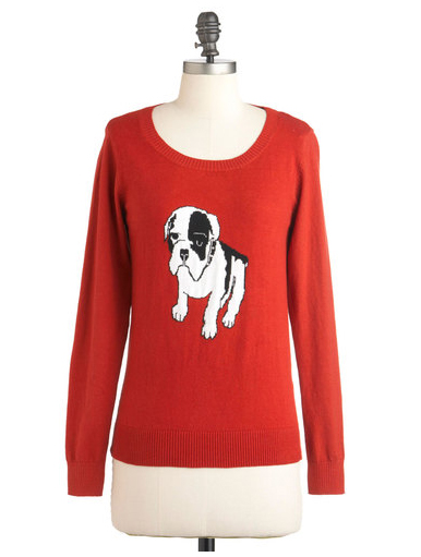 ModCloth Sunny Girl PTY LLTD Dog On It Sweater
