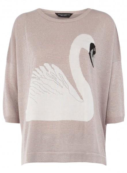 Dorothy Perkins Pink lurex swan jumper