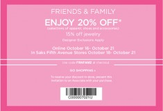 Saks Fifth Avenue is having a Friends and Family Sale - and you're invited!