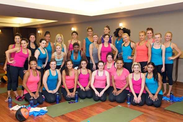 Glam & Under Armour blogger bootcamp at Exhale Spa: bloggers after class