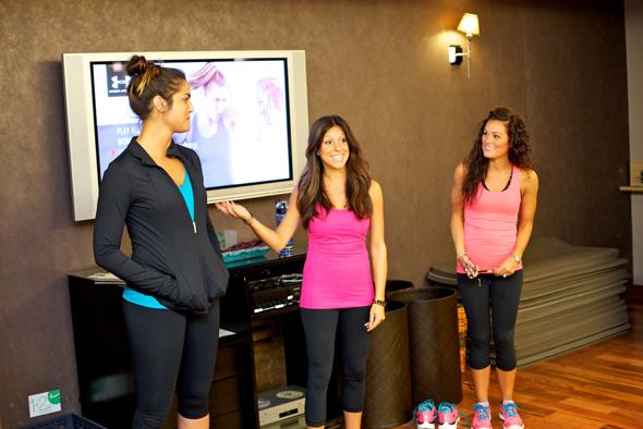 Glam & Under Armour blogger bootcamp at Exhale Spa: Under Armour reps