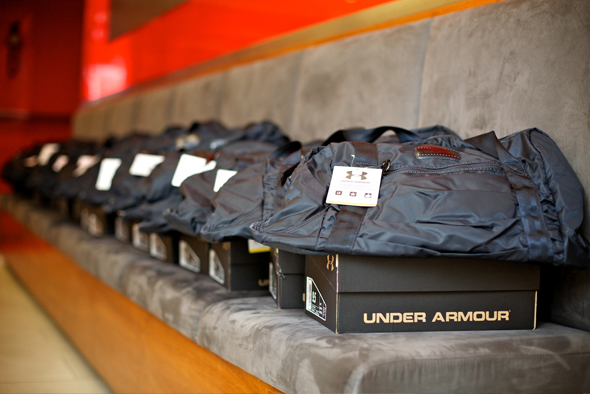 Glam & Under Armour blogger bootcamp at Exhale Spa: Under Armour sneakers & bags