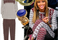 Get her haute look - Beyonc at the Brooklyn Nets game in Tibi, Erika Pea, YSL and Giuseppe Zanotti
