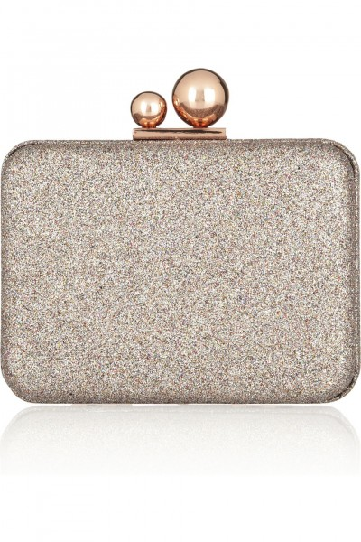 Sophia Webster Azealia glitter-finished leather clutch