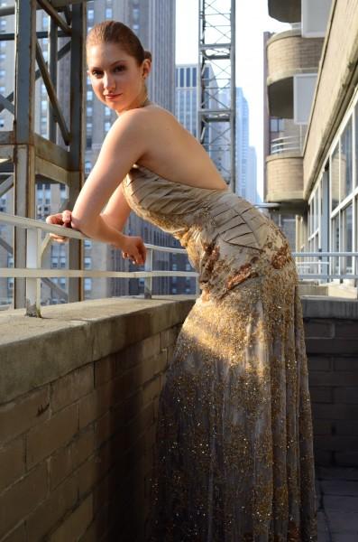 Romanitza Golden Butterfly gown