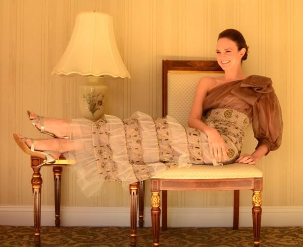 Romanitza Organza Bow gown