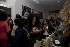 Guests at Alikay Naturals event at SWING Harlem to support cervical cancer education