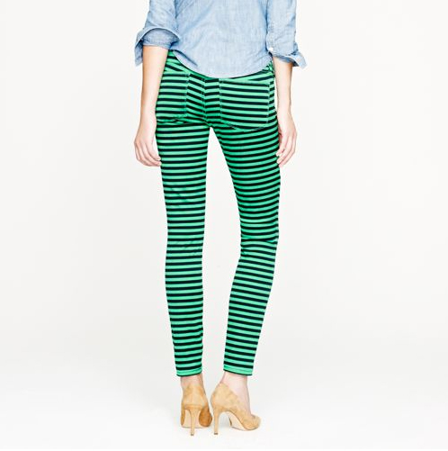Haute buy: J. Crew toothpick jean in stripe - back