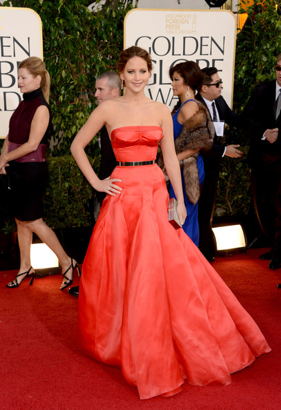 Jennifer Lawrence at the 70th Annual Golden Globe Awards