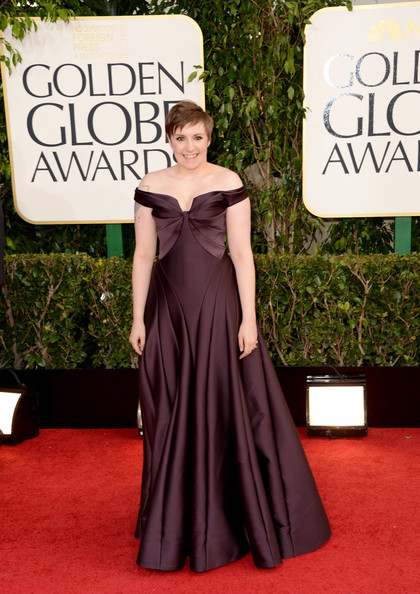 Lena Dunham at the 70th Annual Golden Globe Awards
