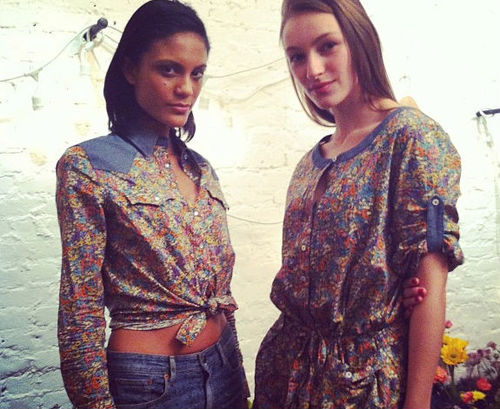 Levi's collaborates with Liberty of London on floral denim collection