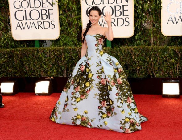 Lucy Liu at the 70th Annual Golden Globe Awards