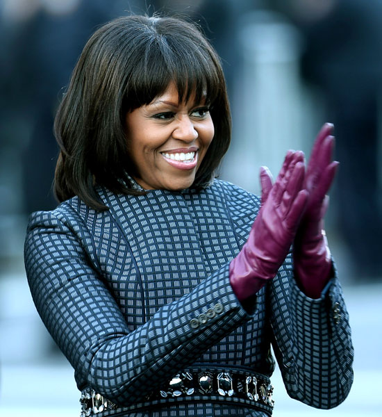 Michelle Obama in Thom Browne and J. Crew on Inauguration Day