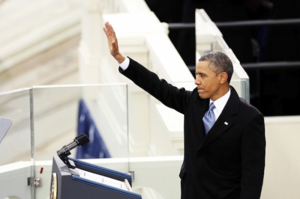 President Barack Obama at the inauguration