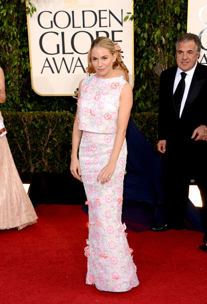 Sienna Miller at the 70th Annual Golden Globe Awards
