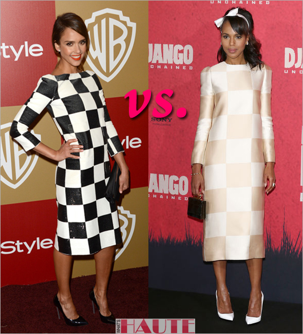 Who rocked it hotter - Jessica Alba or Kerry Washington in Louis Vuitton Spring Summer 2013