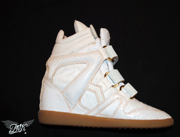 Beyonce Isabel Marant King Bey wedge sneaker side view