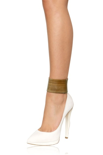 DUKAS 130MM SUEDE DOLL HEEL PUMPS - on model