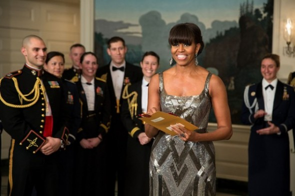 First Lady Michelle Obama in Naeem Khan