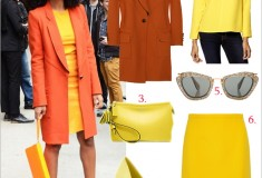 Get her haute look: Solange Knowles in head-to-toe orange and yellow at the 