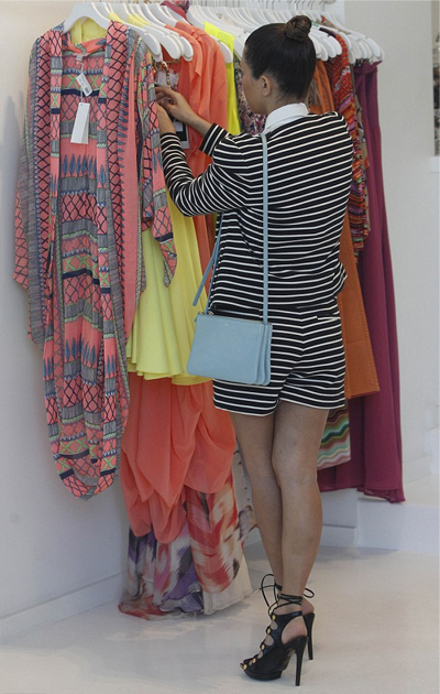 Kim and Kourtney Kardashian striped BCBG shorts suit