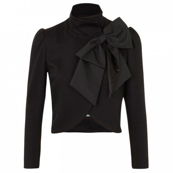 Alice + Olivia Addison Bow Collar Crop Jacket