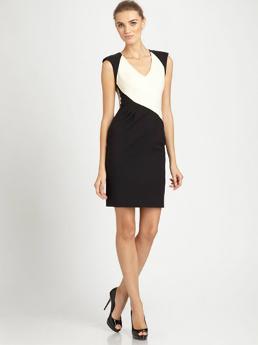 Black Halo Jagger Colorblock Dress