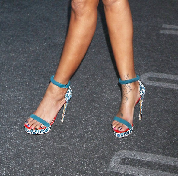 Brandy Norwood Nicholas Kirkwood Elaphe sandals