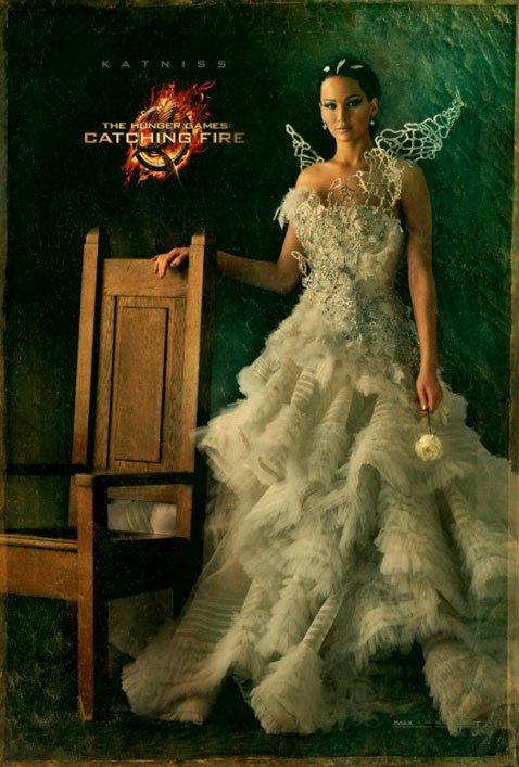 Catching Fire movie poster Jennifer Lawrence as Katniss Everdeen