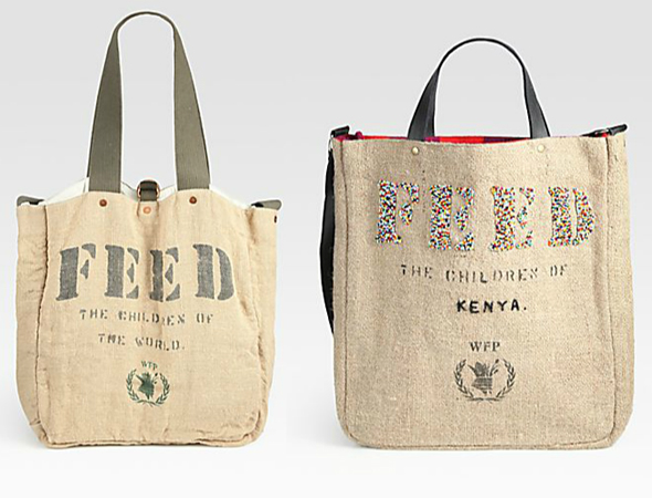 FEED 2 Kenya Bag and Burlap Messenger Bag