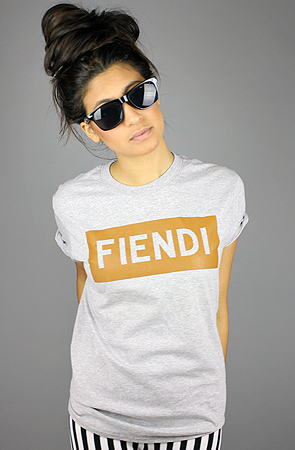 Forever Strung The Fiendi Tee in Heather Gray