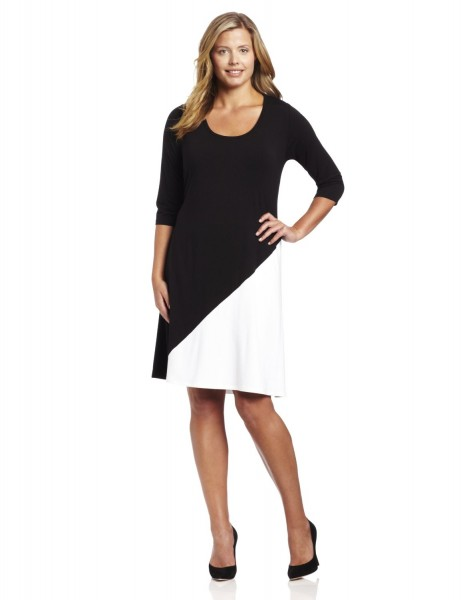 Karen Kane Woman Diagonal Colorblock Dress