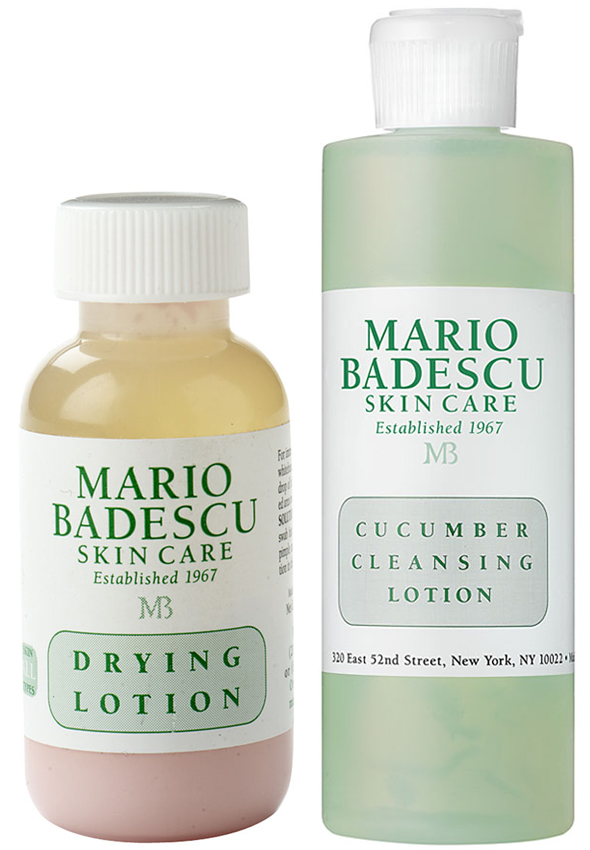 Mario Badescu Drying Lotion and Cucumber Cleansing Lotion