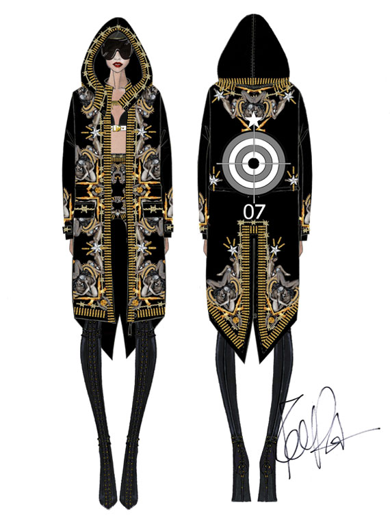 Rihanna Givenchy Couture for Diamonds Tour