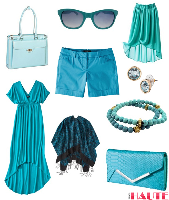 Target aqua fashion and accessories