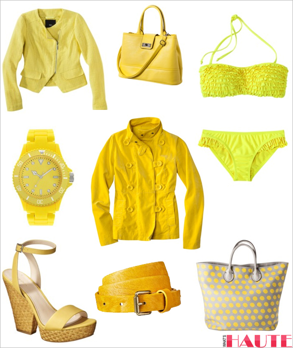 Target yellow fashion and accessories