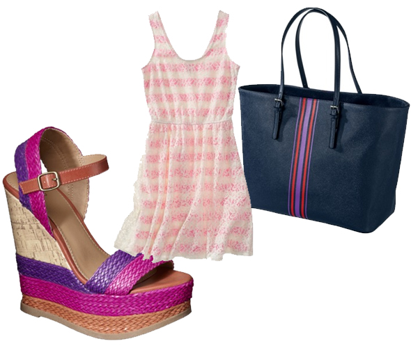 Target striped fashion and accessories