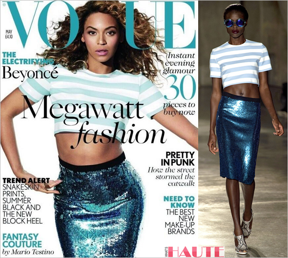 Beyonce covers Vogue UK in Jonathan Saunders Spring Summer 2013
