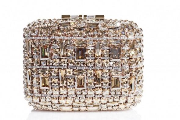 Brian Atwood bridal Swarovski clutch bag