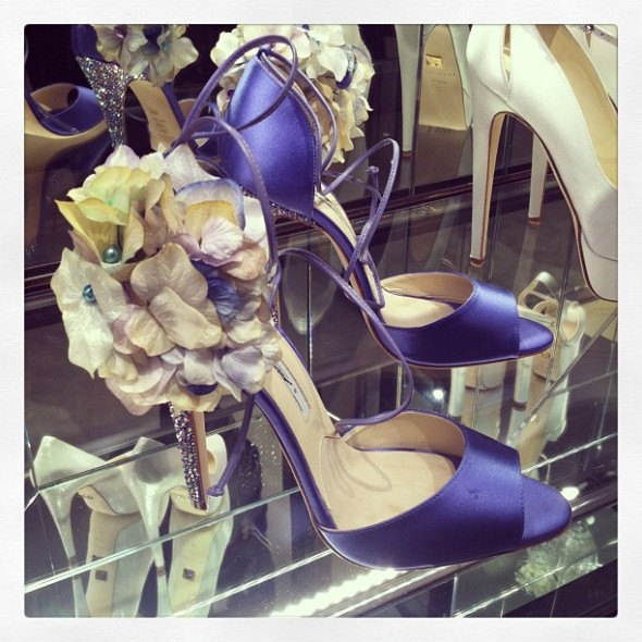 Brian Atwood bridal shoes Aurora