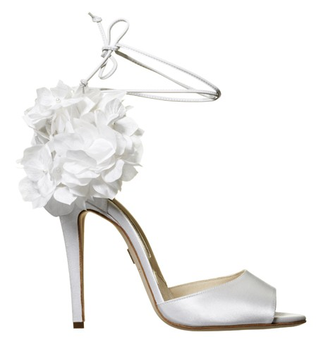 Brian Atwood bridal shoes Aurora white