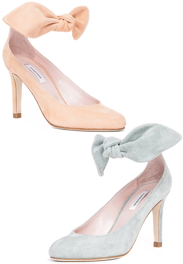 Haute buy: Carven Bow Heel in Nude or Grey