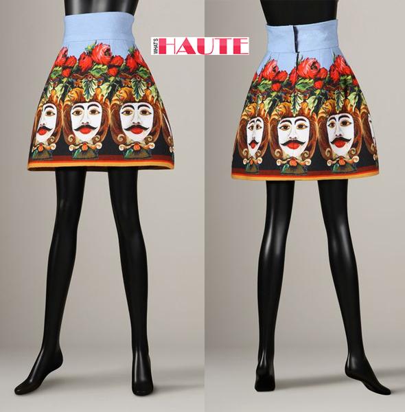 Dolce Gabbana Moor Print Mini Skirt