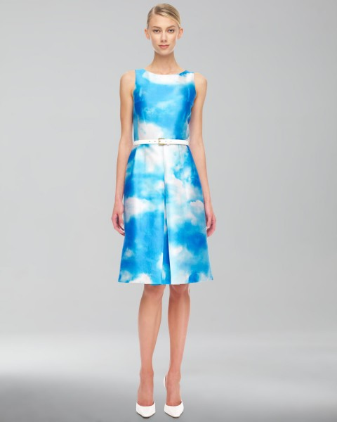 Michael Kors Cloud-Print Dress