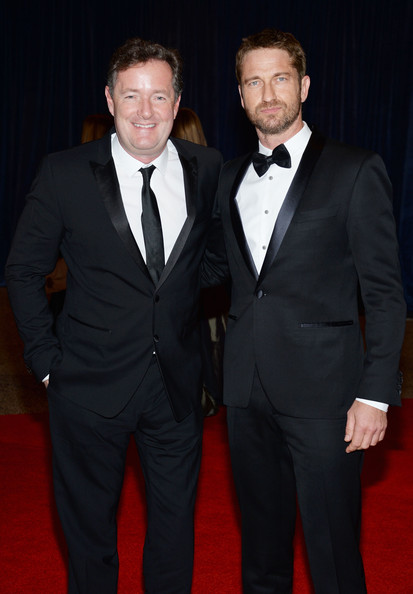 Piers Morgan and Gerard Butler at the White House Correspondents' Association Dinner