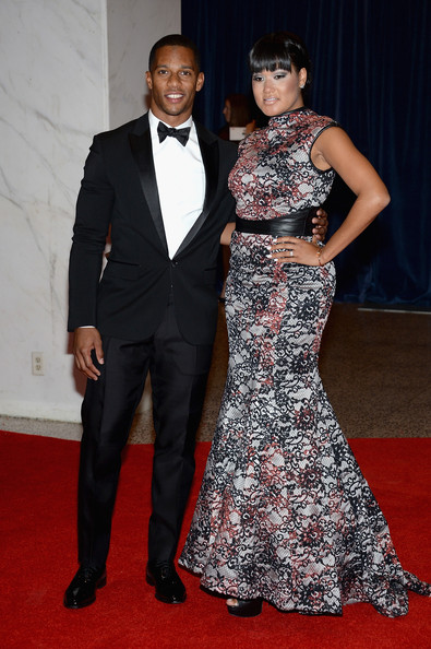 Victor Cruz and Elaina Watley at the White House Correspondents' Association Dinner