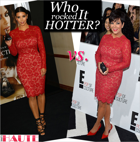 Who Rocked It Hotter Kim Kardashian Or Kris Jenner In Valentino Long Sleeved Lace